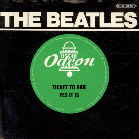 Beatles, The - Ticket To Ride / Yes It Is