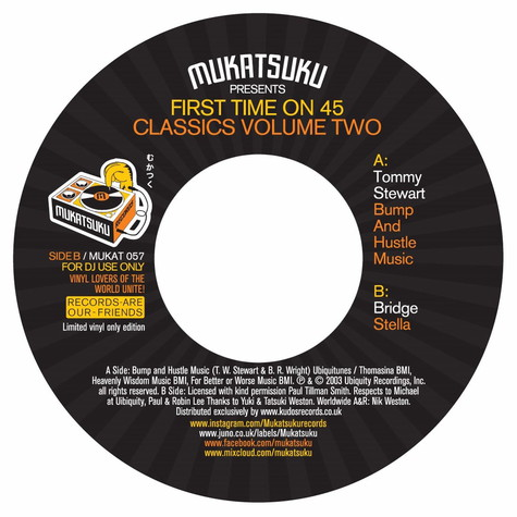 Tommy Stewart / Bridge - Mukatsuku presents First Time On A 45 Classics Volume Two
