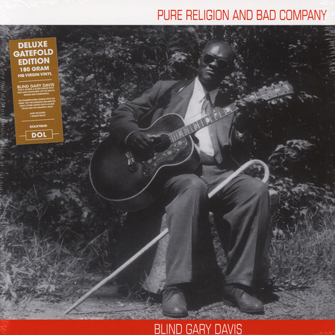 Blind Gary Davis - Pure Religion And Bad Company Gatefold Sleeve Edition