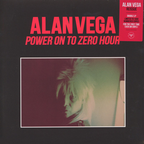 Alan Vega of Suicide - Power On To Zero Hour