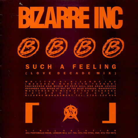 Bizarre Inc - Such A Feeling (Love Decade Mix)
