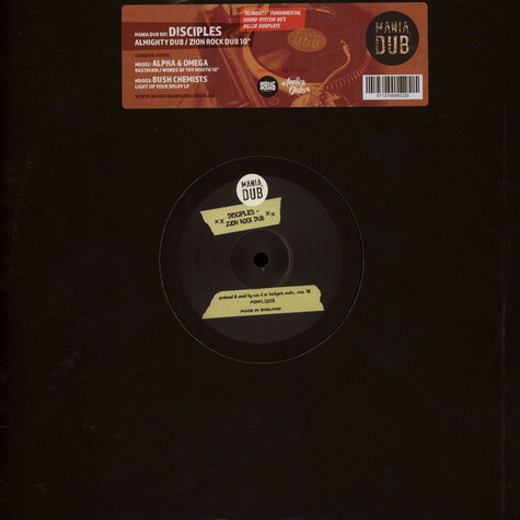 Disciples, The - Almighty Dub / Zion Rock Dub