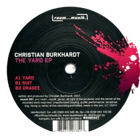Christian Burkhardt - The Yard EP