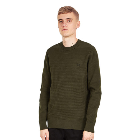 Fred Perry - Waffle Crew Neck Jumper
