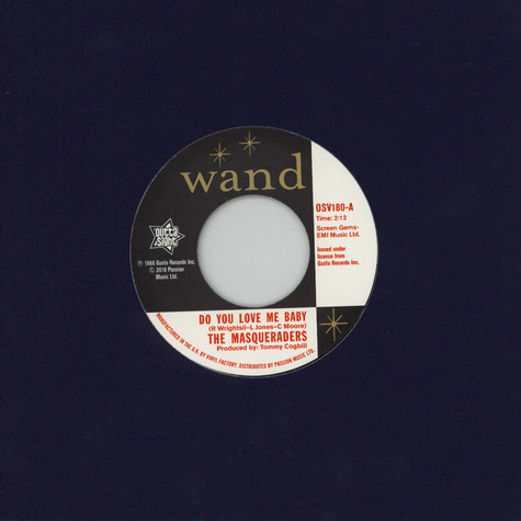 Masqueraders, The / The Gentlemen Four - Do You Love Me Baby / You Can't Keep A Good Man Down