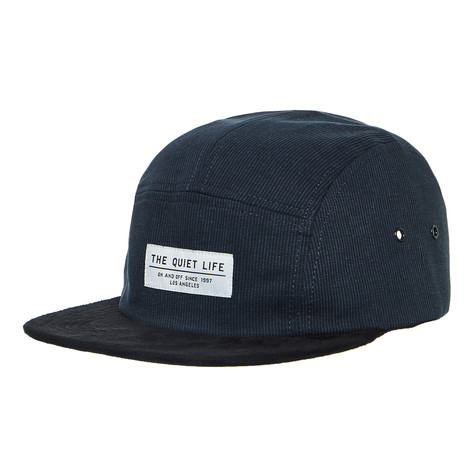 1cb31c07bdd The Quiet Life - Cord Combo 5 Panel Camper Hat (Navy   Black)