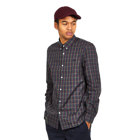 2bd53ab037 Fred Perry - Twill Check Shirt (Dark Airforce)