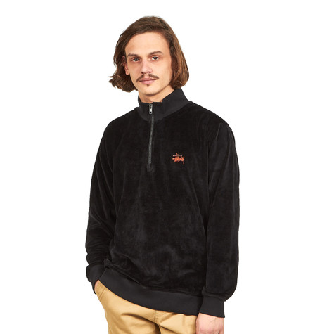Stüssy - Velour Zip Mock