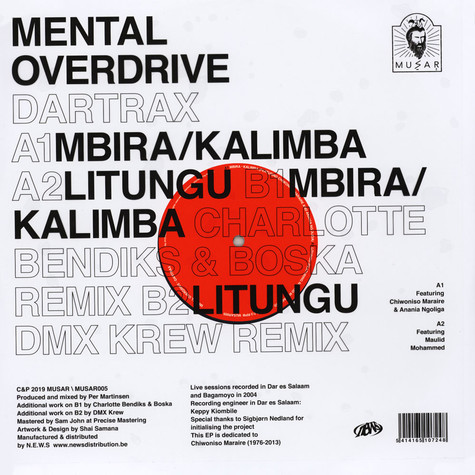 Mental Overdrive - Dartrax EP Charlotte Bendiks & Boska And Dm