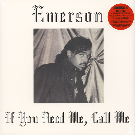 Emerson - If You Need Me, Call Me Record Store Day 2019 Edition