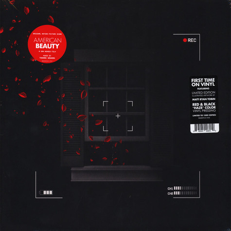 Thomas Newman - OST American Beauty - Original Motion Picture Score Red & Black Vinyl Edition