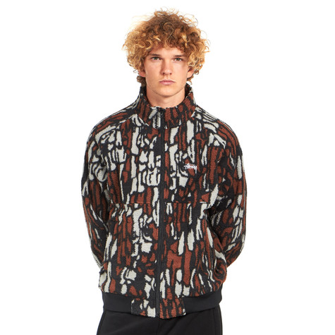 Stüssy - Tree Bark Fleece Jacket