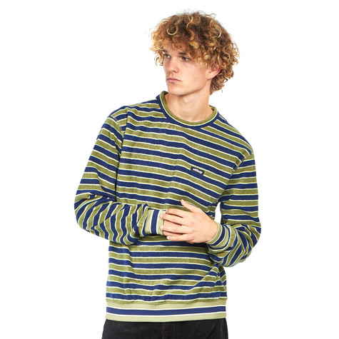 Stüssy - Striped Polar Fleece Crew Sweater