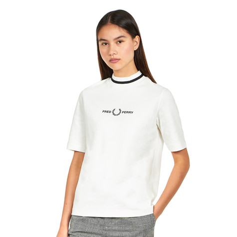 Fred Perry - Printed High Neck T-Shirt