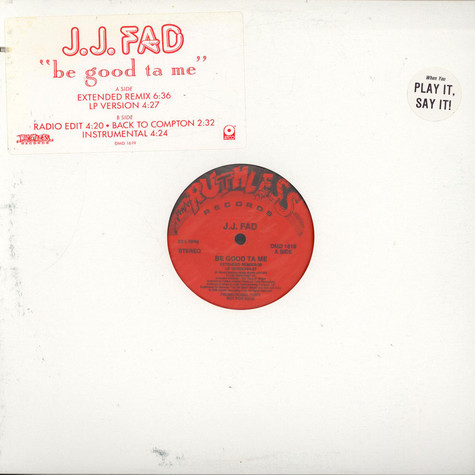 J.J. Fad - Be Good Ta Me