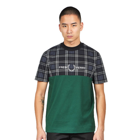 Fred Perry - Tartan Panel T-Shirt