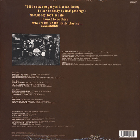 Band, The - The Band 50th Anniversary Remastered Vinyl Edition
