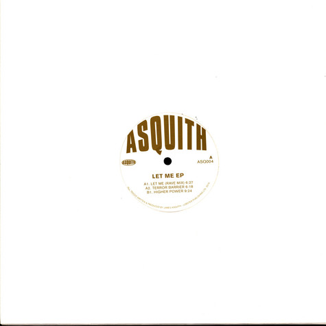 Asquith - Let Me EP Glittery Gold Vinyl Edition