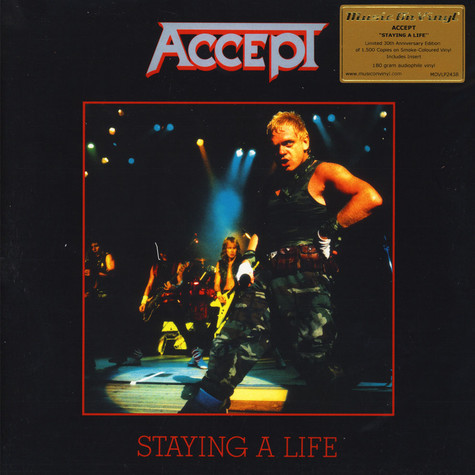 Accept - Staying A Life Limited Numbered Smokey Vinyl Edition