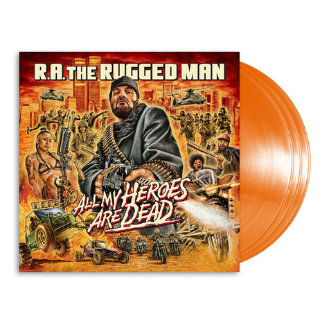 R.A. The Rugged Man - All My Heroes Are Dead HHV Exclusive Opaque Orange Edition