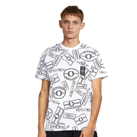 Fred Perry x Art Comes First - Printed Pique T-Shirt