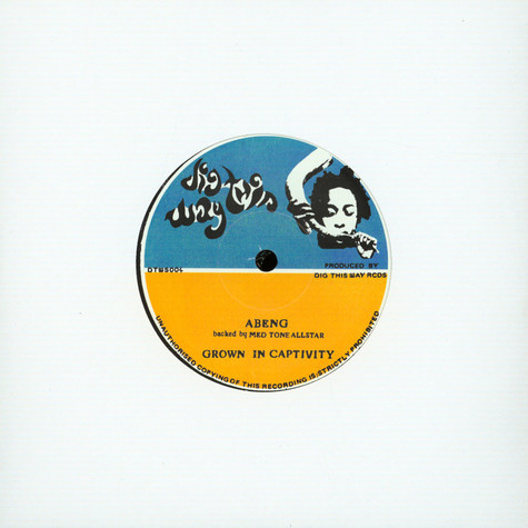 Abeng & Med Tone All Stars / Manasseh - Grown In Captivity / Dub In Captivity