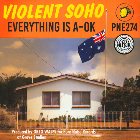 Violent Soho - Everything Is A-Ok Clear / Blue / Red Splatter Vinyl Edition
