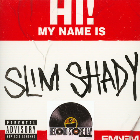 Eminem - My Name Is / Bad Guys Always Die Record Store Day 2020 Edition