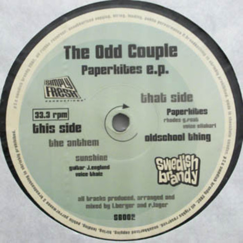 Odd Couple, The - Paperkites EP