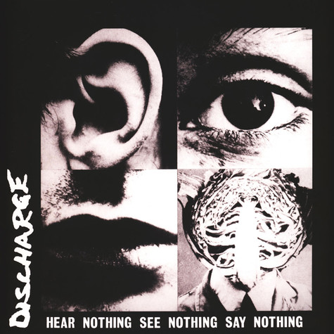 Discharge - Hear Nothing See Nothing Say Nothing Grey/Black Splatter Vinyl Edition