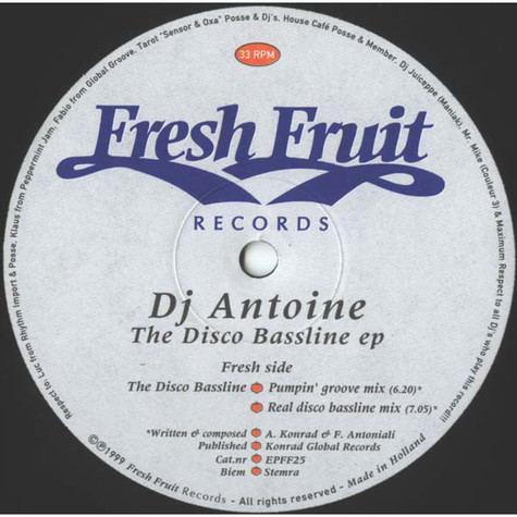 DJ Antoine - The Disco Bassline EP