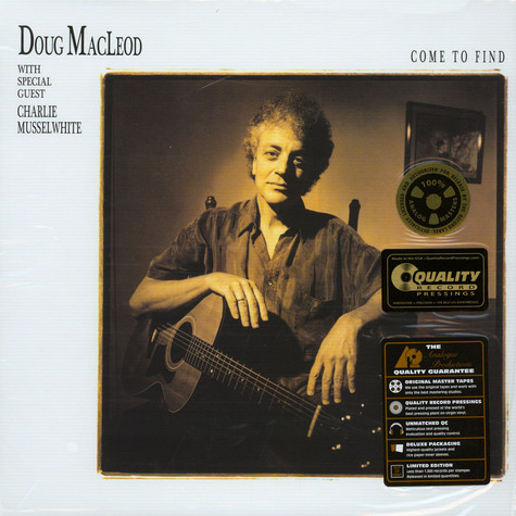 Doug MacLeod - Come To Find 45rpm, 200g Vinyl Edition