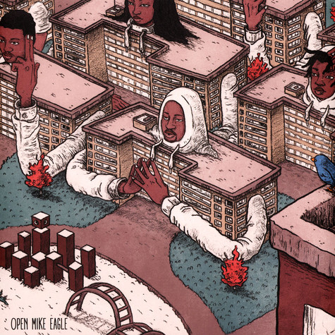 Open Mike Eagle - Brick Body Kids Still Daydream White & Faded Green Clouds Vinyl Edition