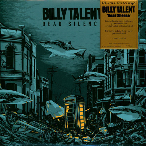 Billy Talent - Dead Silence Crystal Water Vinyl Edition W/ Artprint By Ken Taylor
