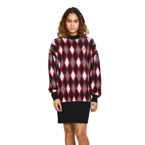Fred Perry - Harlequin Jacquard Knit Dress