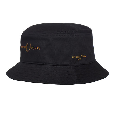 Fred Perry - Branded Twill Bucket Hat