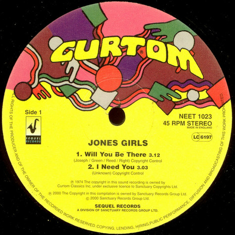The Jones Girls - Will You Be There