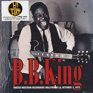 B.B. King - United Western Recorders Hollywood LA, October 1972