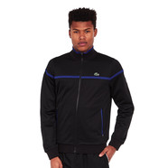 Lacoste - Run Resistant Pique Zip-Up Sweater