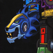 DJ Qbert - Super Seal Giant Robo V.2 (Right Arm) Blue Vinyl Edition