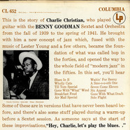 Charlie Christian - With The Benny Goodman Sextet
