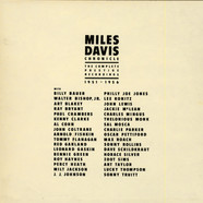 Miles Davis - Chronicle: The Complete Prestige Recordings 1951–1956
