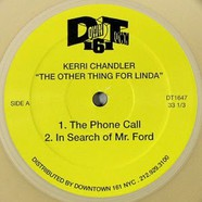 Kerri Chandler - The Other Thing For Linda Clear Golden Vinyl Version