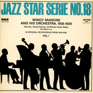Wingy Manone & His Orchestra - 16 Original Recordings From 1936-1939