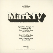 Mark IV - Signs Of Dying Love How I Feel For You DJ Spinna / Sean P / Ourra Mix