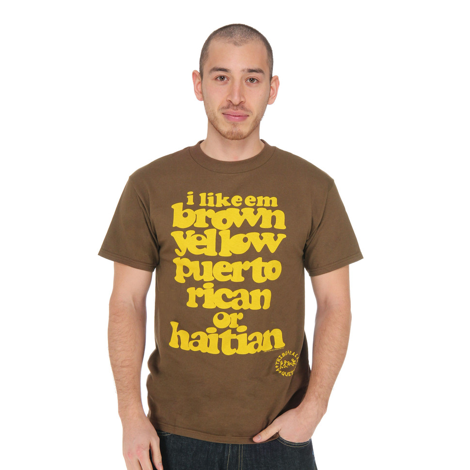 A Tribe Called Quest - Brown Yellow Lyrics T-Shirt