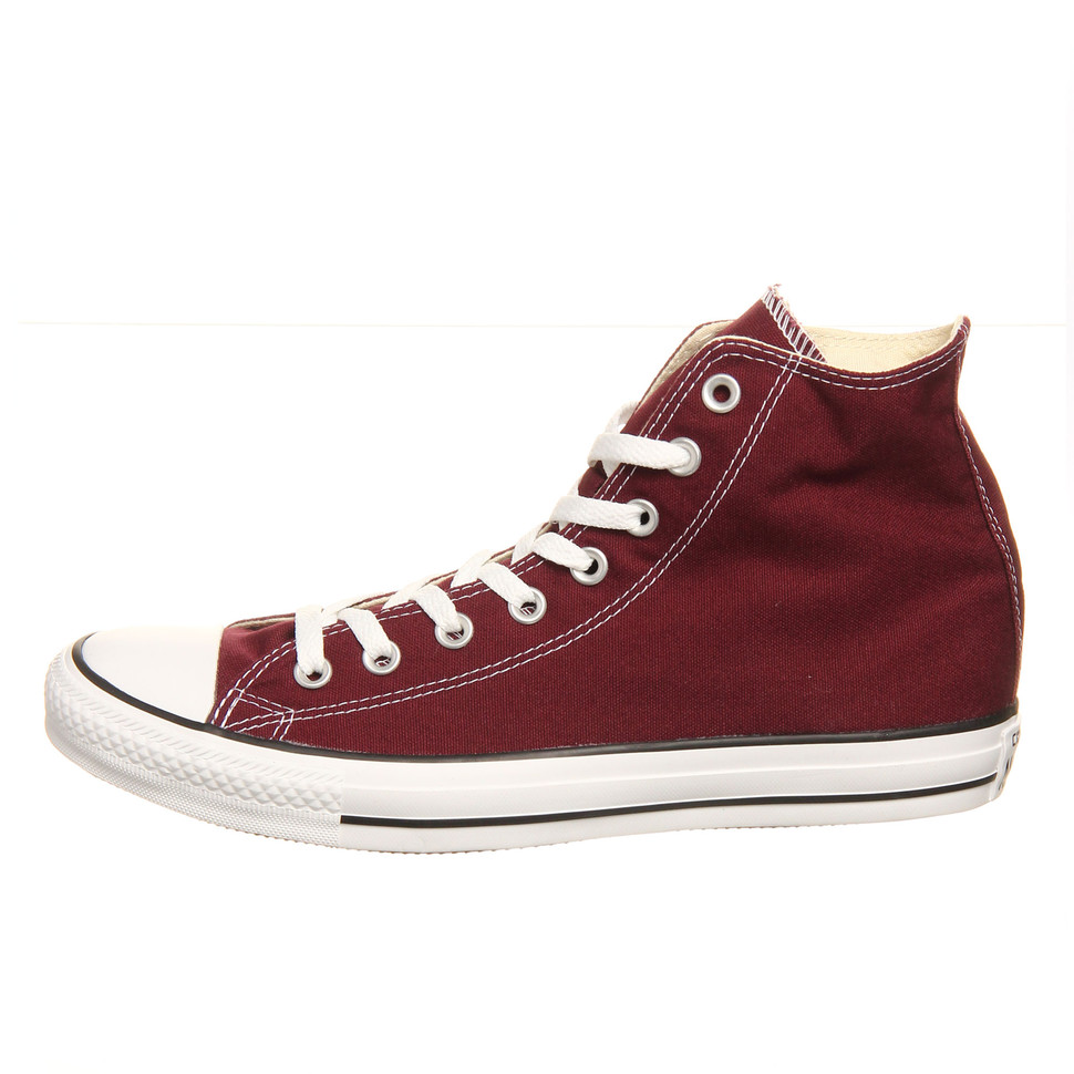 Maroon Converse All Star Hi Top Shoes Maroon, red Chuck