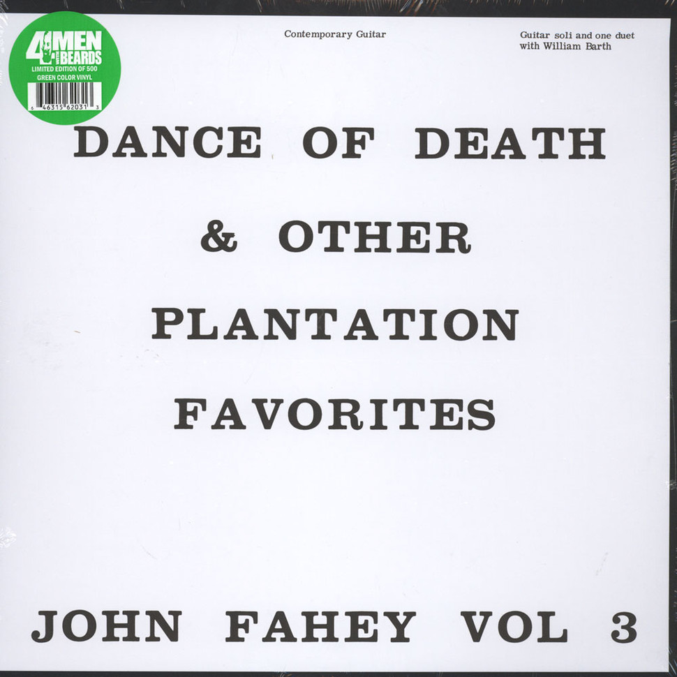 John Fahey - Volume 3: The Dance Of Death And Other Plantation Favorites