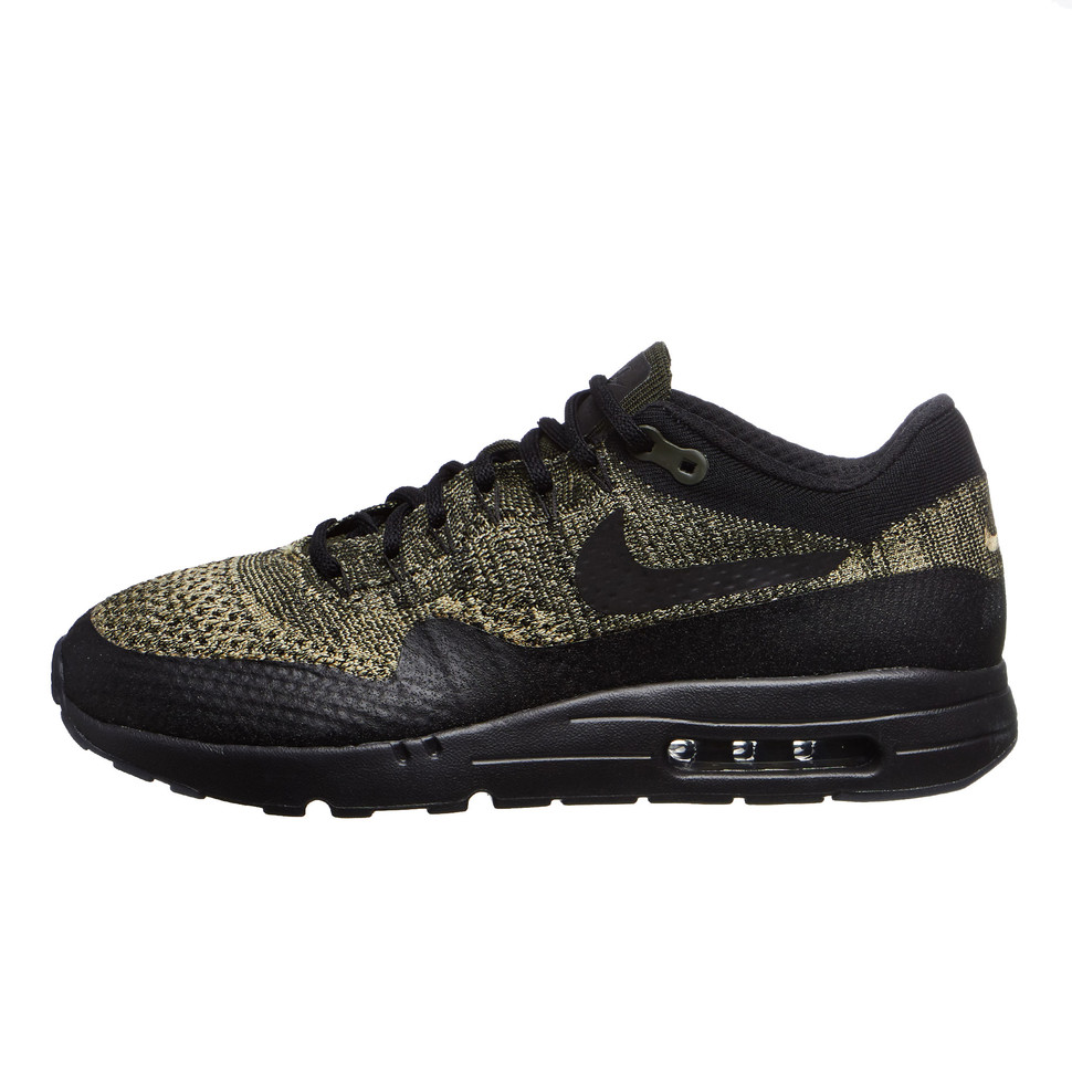 nike AIR MAX 1 ULTRA FLYKNIT NEUTRAL OLIVEBLACK SEQUOIA bei