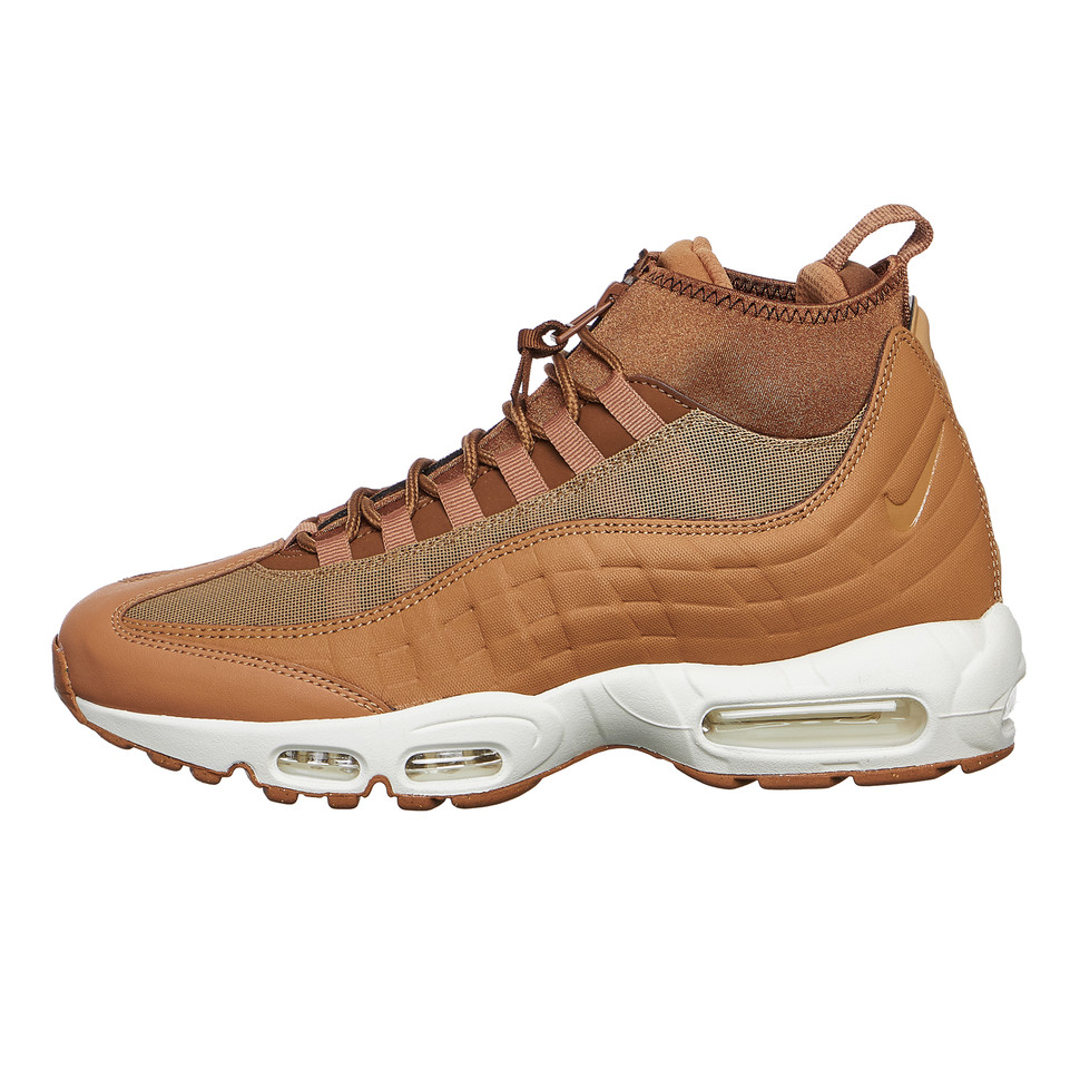 Nike Leather Air Max 95 Sneakerboot Flax Flax ale Brown